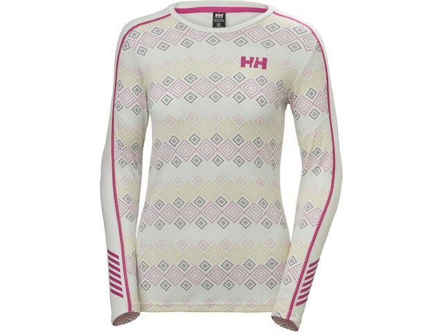 Helly Hansen Lifa Active Graphic Crew Shirt Dame White Dotted Print